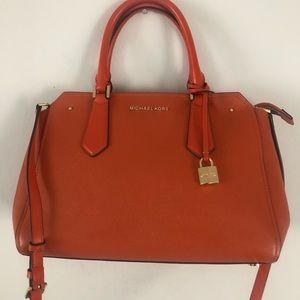 MICHAEL KORS Satchel Crossbody Handbag Orange